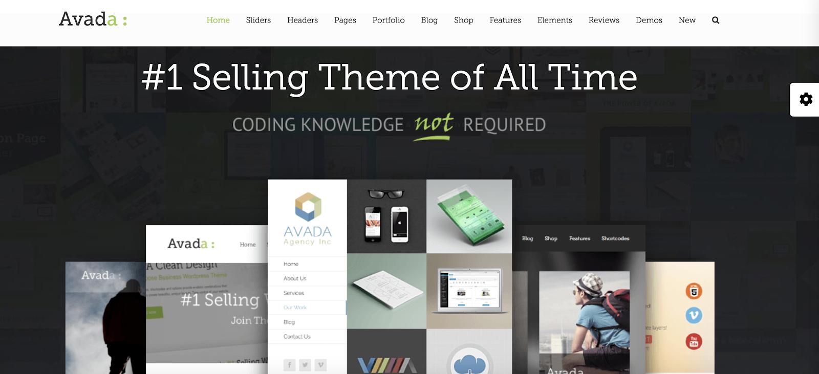 Avada best WordPress Themes for Blogs