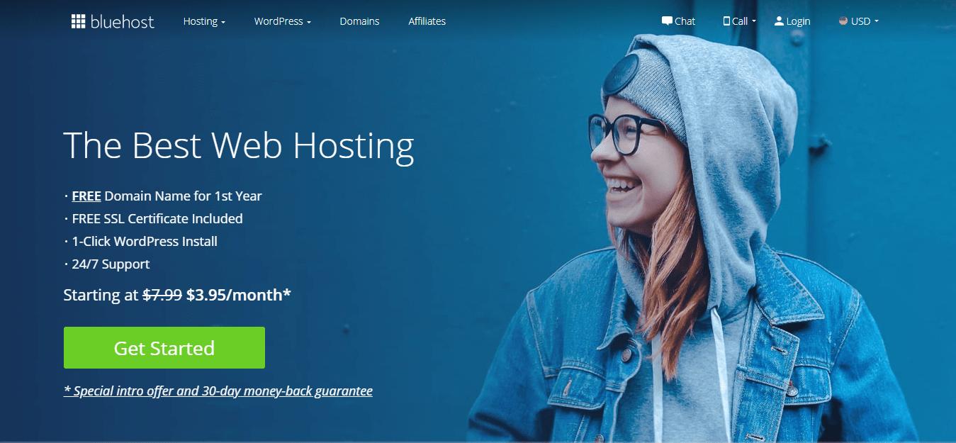 Best-Website-Hosting-Bluehost-Start a Money Making Blog
