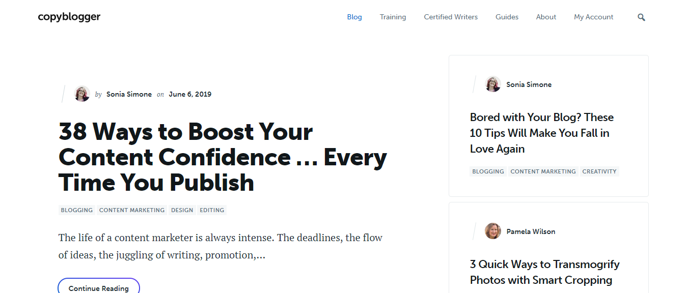 Copyblogger - Learn Copywriting and Content Marketing