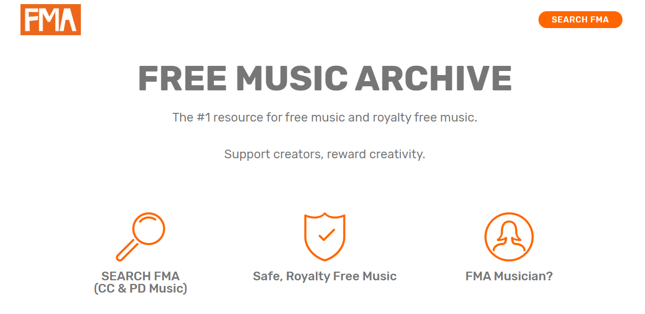 Free Music Archive- download copyright free music