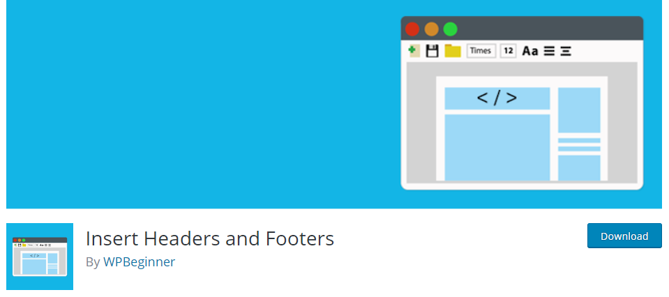 Insert Headers and Footers - Insert code to your WordPress site