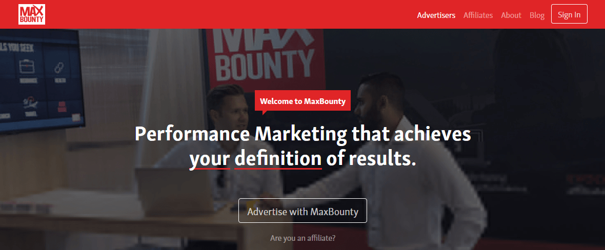 MaxBounty Affiliate Network