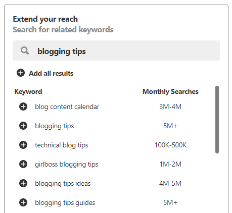 Pinterest Keyword Planner - Most Searched Keywords on Pinterest
