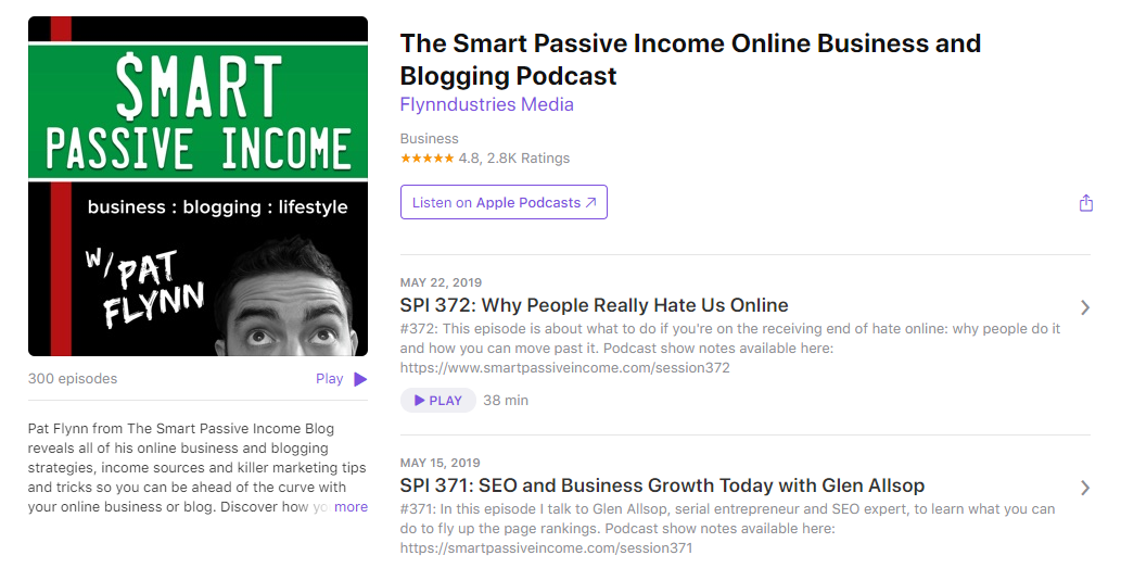 The Smart Passive Income Online Business and Blogging Podcast - iTunes