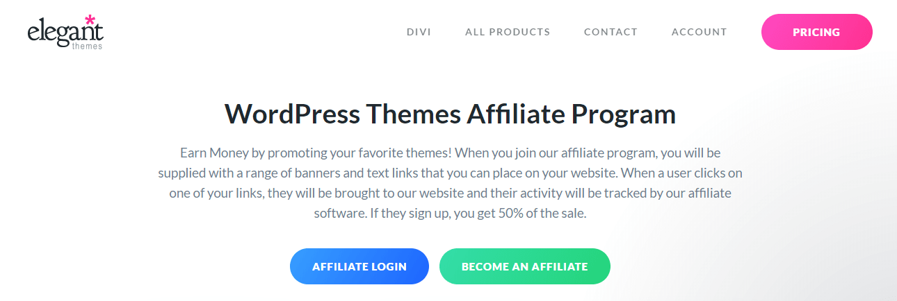 WordPress Themes Affiliate Program by Elegant Themes