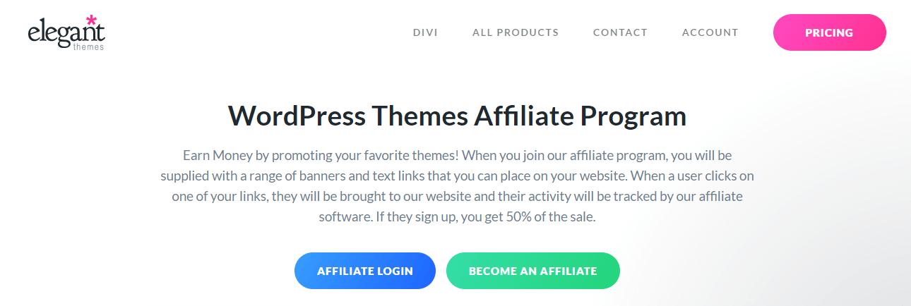 WordPress Themes Affiliate Program by Elegant Themes