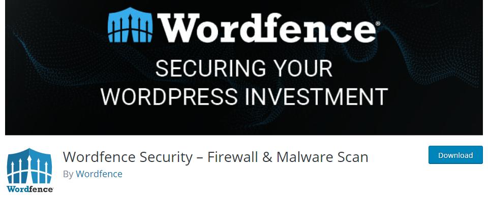 Wordfence Security - Firewall & Malware Scan - Best WordPress security plugin